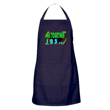 all together now 123 Apron (dark)
