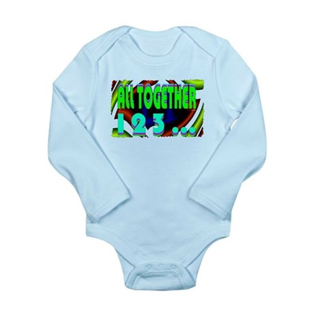 all together now 123 Long Sleeve Infant Bodysuit