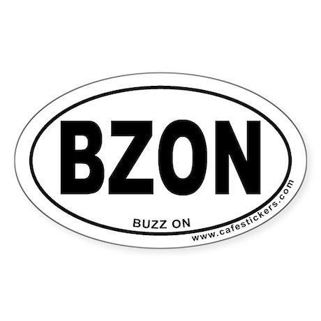 Buzz On Oval Sticker