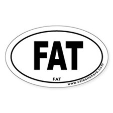 Fat Oval Decal