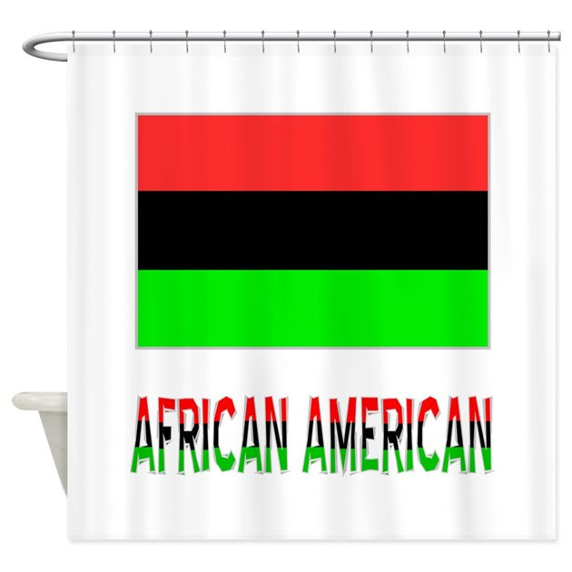 African American Flag amp Words Shower Curtain By Ameriwear