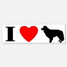 I Love Border Collie Bumper Bumper Bumper Sticker