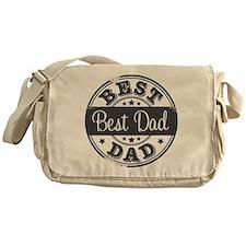 Best Dad rubber stamp Messenger Bag