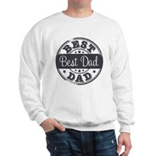 Best Dad rubber stamp Sweatshirt