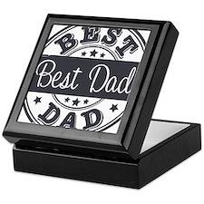 Best Dad rubber stamp Keepsake Box