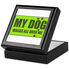 MY DOG WALKS Keepsake Box