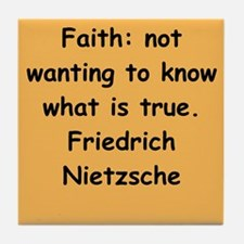 nietzsche gifts and apparel. Tile Coaster