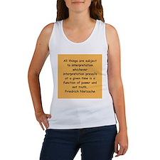 nietzsche gifts and apparel. Women's Tank Top