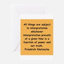 nietzsche gifts and apparel. Greeting Card