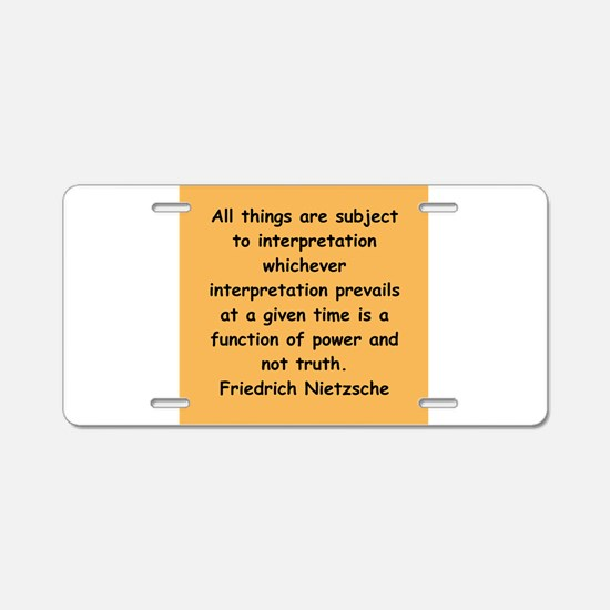 nietzsche gifts and apparel. Aluminum License Plat