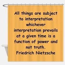 nietzsche gifts and apparel. Shower Curtain