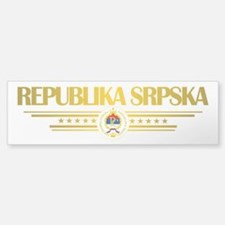 """Republika Srpska Bumper Bumper Sticker"