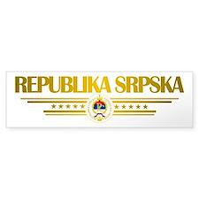 """""""Republika Srpska Bumper Sticker"""