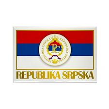 """Republika Srpska Rectangle Magnet"
