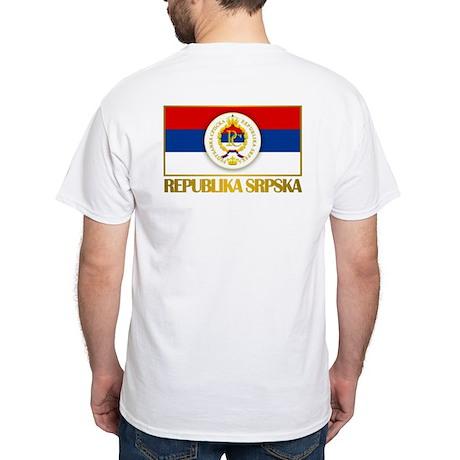 """Republika Srpska White T-Shirt"
