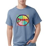 Abstract Peace Sign Mens Comfort Colors Shirt
