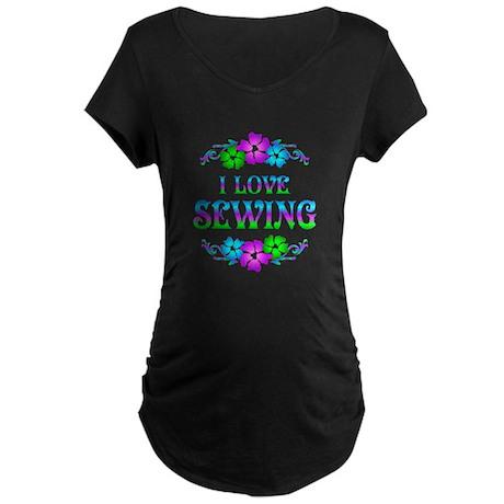 Sewing Love Maternity Dark T-Shirt