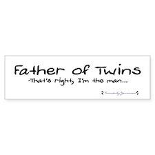 Father of Twins - The Man - Bumper Bumper Bumper Sticker