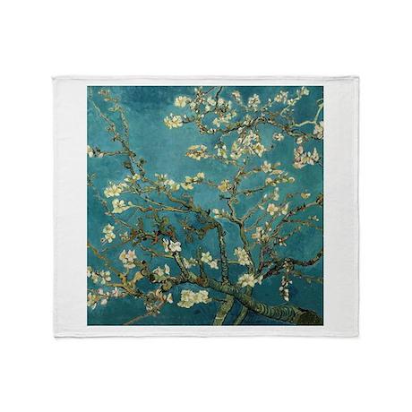 Van Gogh Almond Branches In Bloom Throw Blanket