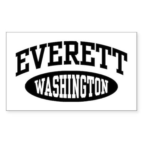 Everett Washington Sticker (Rectangle)