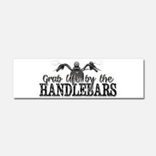 Grab Life By The Handlebars Car Magnet 10 x 3