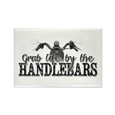 Grab Life By The Handlebars Rectangle Magnet
