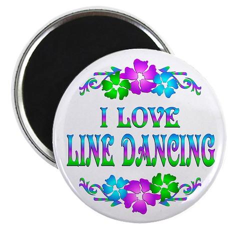 "Line Dancing Love 2.25"" Magnet (100 pack)"
