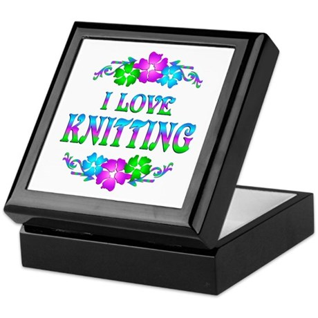 Knitting Love Keepsake Box