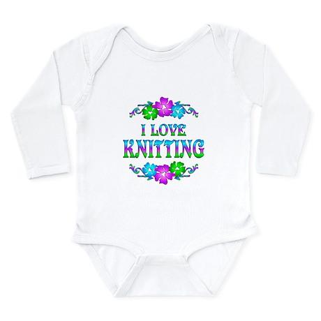 Knitting Love Long Sleeve Infant Bodysuit
