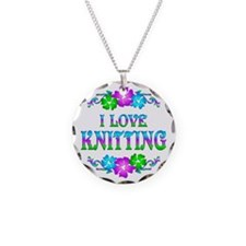 Knitting Love Necklace