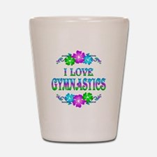 Gymnastics Love Shot Glass
