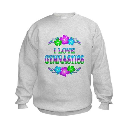 Gymnastics Love Kids Sweatshirt
