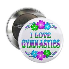 "Gymnastics Love 2.25"" Button (10 pack)"
