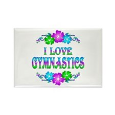 Gymnastics Love Rectangle Magnet
