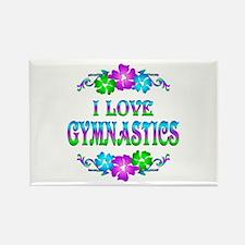 Gymnastics Love Rectangle Magnet