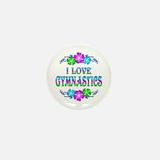 Gymnastics Love Mini Button (10 pack)