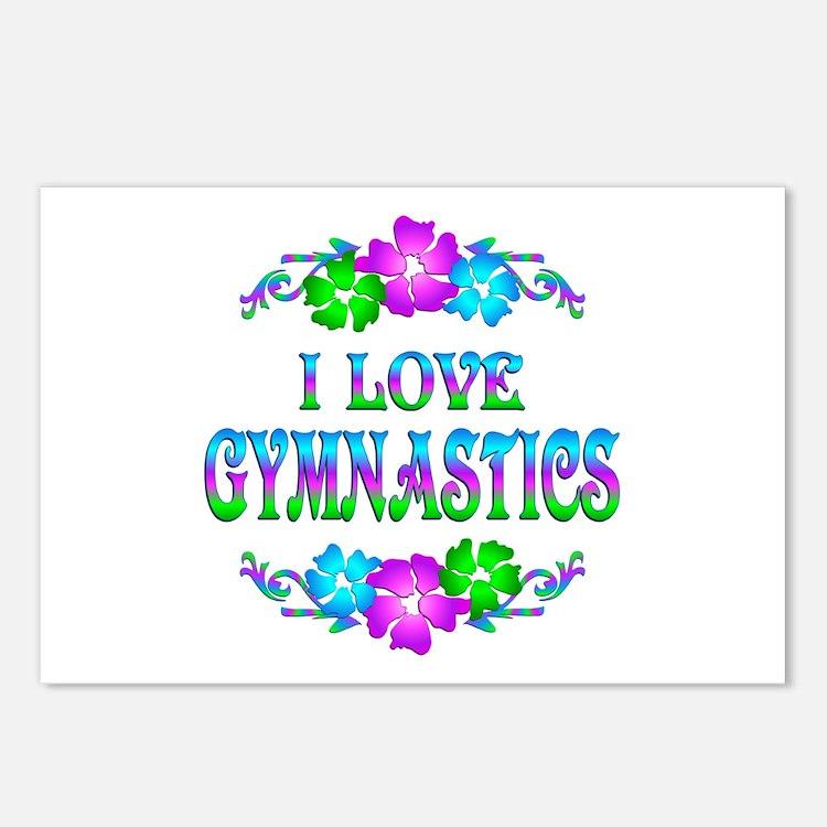 Gymnastics Love Postcards (Package of 8)