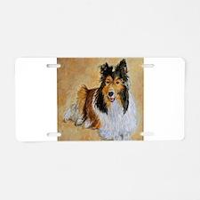 Lenny the Shetland Sheepdog Aluminum License Plate