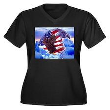 Unique Bald eagle Women's Plus Size V-Neck Dark T-Shirt