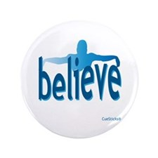 "Believe Swim 3.5"" Button"