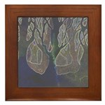 Framed Tile glowing trees