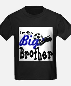 Cute Little brother soccer T