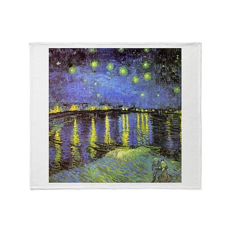 Van Gogh Starry Night Over The Rhone Stadium Blan