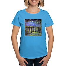 Van Gogh Starry Night Over The Rhone Tee