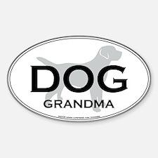 DOG GRANDMA Oval Bumper Stickers