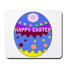 Happy Easter Duck on An Easter Egg Mousepad