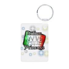 Italian Princess Aluminum Photo Keychain