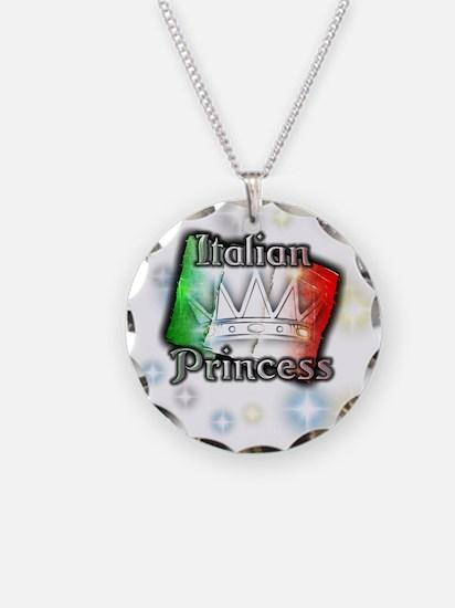 Italian Princess Necklace Circle Charm