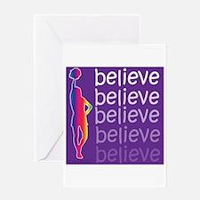 Believe (cheer) Greeting Card