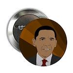 Earth Tones Barack Obama button